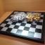หมากรุกสากลแม่เหล็กตัวหมากสีทองเงินขนาดเล็ก(25x25cm.) thumbnail 3