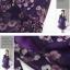 เดรสแฟชั่นแขนยาวผ้าซีฟองลายดอกไม้โทนสีม่วงเข้ม/สีชมพู ใส่ทำงานได้นะค่ะ สวยค่ะ ไซส์ M thumbnail 24