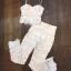 Set เสื้อลูกไม้ขาวสายเดี่ยว + กางเกงงานลูกไม้ขาวขายาว thumbnail 5