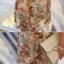 R.J.Lady เดรสแฟชั่น2ชิ้นเสื้อคอวีหน้า-หลัง ผ้าซีฟองลายกราฟฟิกดอกไม้โทนน้ำตาลตัวในเป็นเกาะอกยาวนะค่ะ thumbnail 8