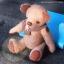 ตุ๊กตาหมีผ้าวูลสีน้ำตาลขนาด 21 cm. - Holly thumbnail 6