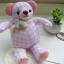 ตุ๊กตาหมีผ้าลายสก๊อตสีชมพูขนาด 9.5 cm. - Niza thumbnail 4