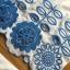 เซ็ตเสื้อและกางเกงผ้าคอตตอนสีขาวปักและฉลุลายดอกไม้สีฟ้า thumbnail 8