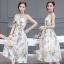 ชุด Maxi dress แขนกุด เนื้อผ้าพิมพ์ลายหอ eiffel และดอกไม้กับผีเสื้อ thumbnail 2