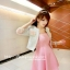 ชุดเดรสเกาะอกสีชมพูหวาน+เสื้อคลุมเข้าชุดกัน มีไซส์ S thumbnail 7