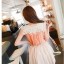 Chu ViVi เสื้อแฟชั่นแขนกุดผ้าซีฟองสีส้ม thumbnail 4