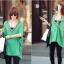 เสื้อแฟชั่นแต่งคอวีทรงสบายสีเขียวตามแบบนะค่ะ thumbnail 5