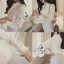 เสื้อเชิ้ตผ้าลูกไม้แขนยาวทอลายโมเดิร์น thumbnail 2