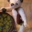 ตุ๊กตาหมีผ้าวูลท์สีเทาขนาด 19 cm. - Lilac thumbnail 2