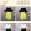 เดรสแฟชั่นเกาหลีเสื้อแขนกระดิ่งทรงสวยค่ะ มี 2 สี สีขาวตัดำ/สีดำตัดเหลืองเลมอน กระโปรงตัดเฉียงด้านหน้าไขว้กันนะคะ thumbnail 5