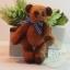 ตุ๊กตาหมีผ้าขนสีน้ำตาลแดง ขนาด 8 cm. - Getty thumbnail 1
