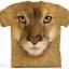 เสื้อยืด3Dสุดแนว(MOUNTAIN LION FACE T-SHIRT) thumbnail 1
