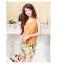 ชุดเดรสแฟชั่น 2 ชิ้น เสื้อสายเดี่ยวลายดอกไม้ เสื้อนอกสีส้มผ้าซีฟอง(ตามภาพ) thumbnail 1