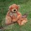 หมีนุ่มนิ่มสีน้ำตาล สูง 27 ซม. thumbnail 2