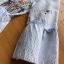 เดรสผ้าคอตตอนลายทางสีฟ้าขาวปักลายดอกไม้สไตล์ซัมเมอร์ thumbnail 6