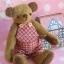 ตุ๊กตาหมีผ้าขนสั้นสีน้ำตาลขนาด 13 cm. - Cracker Boy thumbnail 1