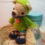 ตุ๊กตาหมีถักขนาด 15.5 cm. - PiPo smile thumbnail 1