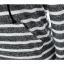 แม็กซี่เดรสแฟชั่นเสื้อแขนยาวมีฮูด ลายขวางขาวสลับเทาเข้ม ไม่ซับในนะค่ะ สินค้าตามแบบคะ thumbnail 8