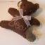 ตุ๊กตาหมีพวงกุญแจ สูง 8 cm.ผ้าสักหลาด flower02 - สีน้ำตาลเข้ม thumbnail 1