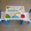 สีฟ้า นัInter Steel ชุดโต๊ะและเก้าอี้ เตรียมอนุบาล โต๊ะ ก-ฮ 1 ตัว + เก้าอี้ 2 ตัว ชุดโต๊ะเขียนหนังสือ/ทำกิจกรรมเด็ก ผลิตจากพลาสติกเนื้อดี แข็งแรง สามารถประกอบได้ง่าย ■ เหมาะกับการวางไว้ตามมุมต่างๆ ทั้งในบ้านและนอกบ้าน thumbnail 5