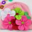 -พร้อมส่ง- หมวกผ้าประดับดอกไม้ hand made ขนาดใหญ่ น่ารักสดใส มี 3 ลายให้เลือก เหมาะสำหรับน้อง 6 เดือน - 2 ปีค่ะ thumbnail 4