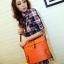 Maomaobag กระเป๋าสะพายสีส้มทรงสวยก้นทรงรี ด้านหน้าเป็นลายหนังจรเข้ thumbnail 1