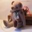 ตุ๊กตาหมีผ้าขูดขนสีน้ำตาลขนาด 19 cm. - Lilac thumbnail 2