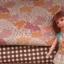 ผ้าจัดเซตผ้า cotton + ลินิน ขนาด 1/8 หลา 1ชิ้น + ผ้าลายทางหาในไทย 1 ชิ้น ขนาด1/8 m thumbnail 1