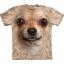 The Mountain Big Face Chihuahua Dog T-Shirts thumbnail 1