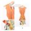 ชุดเดรสแฟชั่น 2 ชิ้น เสื้อสายเดี่ยวลายดอกไม้ เสื้อนอกสีส้มผ้าซีฟอง(ตามภาพ) thumbnail 4