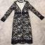 dress. ลูกไม้ดำซับสีเนื้อ แขนยาว thumbnail 6