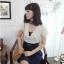 พร้อมส่งค่ะ ชุดเดรสเสื้อลูกไม้ แบรนด์ Ouremu จากเกาหลีจ้า thumbnail 2