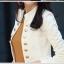 เสื้อคลุมแฟชั่นแต่งกระดุมด้านหน้าเพิ่มลุคสาวมั่นมี 2 สีค่ะ สีขาว thumbnail 12