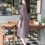 ชุดเดรสผ้าเกาหลีเนื้อผ้ามีน้ำหนัก thumbnail 3