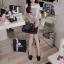 SISOUHOR เดรสแฟชั่นเกาหลี/เสื้อตัวยาวทรงปล่อย แขนล้ำ ลายขวางสีขาวสลับดำ ดีเทลผูกโบว์ใหญ่ที่ไหล่ สวยค่ะ thumbnail 6