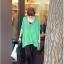 เสื้อแฟชั่นแต่งคอวีทรงสบายสีเขียวตามแบบนะค่ะ thumbnail 9