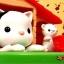แมวสีขาว มีคลิปวีดีโอค่ะ Cat and Mouse Coin Bank Cat and Mouse Moving Money Box Piggy Bank ของเล่นส่งเสริมนิสัยการออม ขนาดสินค้า 13.9 x 12.4 x 13.9 cm. กระปุกออมสินแมวหนู thumbnail 2