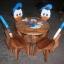 ลายโดนัลดักส์ รุ่นมีพนักพิง โต๊ะ ขนาด 18*20 นิ้ว จำนวน 1 ตัว เก้าอี้ ขนาด 10*10 นิ้ว จำนวน 4 ตัว ผลิตจากไม้จามจุรี รับน้ำหนักได้ถึง 70 กก. thumbnail 1