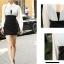 เดรสแฟชั่นเกาหลีเสื้อแขนยาวคอปก สีขาว+ตัวชุดด้านในเสื้อแขนกุดเข้ารูปสีดำ สินค้าตามแบบคะ thumbnail 8