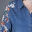 ชุดเดรสเชิ้ตผ้ายีนส์ฟอกปักลายดอกไม้ thumbnail 9