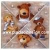 กระดาษเดคูพาจพิมพ์ลาย สำหรับทำงาน เดคูพาจ Decoupage งานฝีมือ งาน Handmade แนวภาพ น้องหมี เท็ดดี้ แบร์ teddy bear 4 สไตล์ 4 สายพันธุ์ มาประชันโฉม ใครน่ารักกว่ากันน๊า (pladao design)