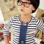 Huanzhu kids เสื้อแฟชั่นเด็กนำเข้า ลายทางสีขาว แต่งด้วยเน็คไทด์ น่ารัก แนวๆสไตล์เกาหลีจร้า thumbnail 1
